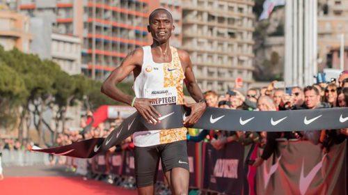 Joshua Cheptegei WR 5 km Monaco