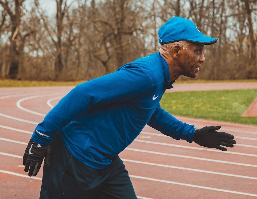 Charles Allie 73 éves futó