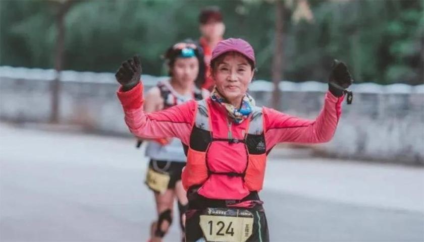 Wang Lang 70 éves maratonfutó
